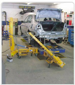 Car-O-Liner Bench Rack frame machines
