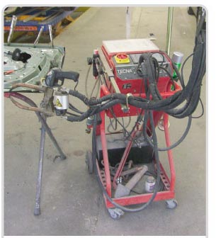 Tecna water-cooled spot welder